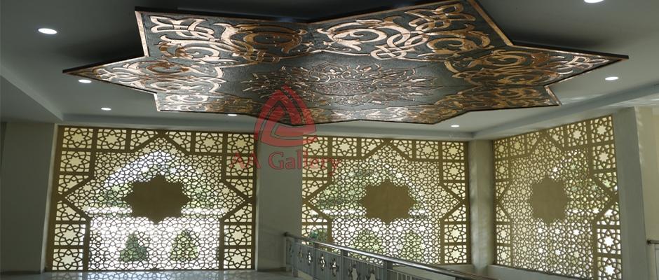 interior masjid dari tembaga