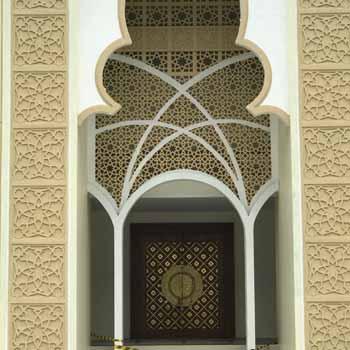 replika pintu nabawi dari tembaga/kuningan