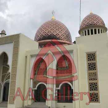 pengrajin kubah masjid berbahan tembaga